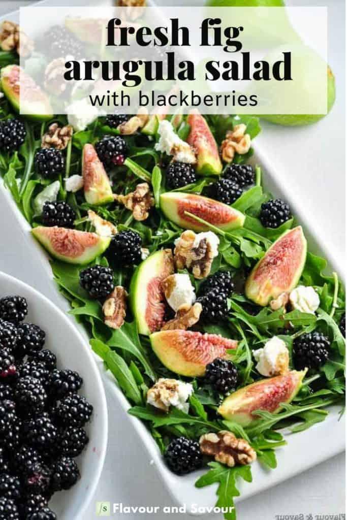 Image and text for Fresh Fig Arugula Salad