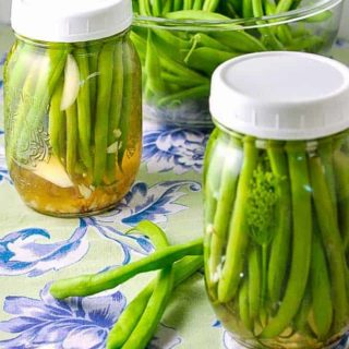 Two jars of Quick Refrigerator Pickled Beans