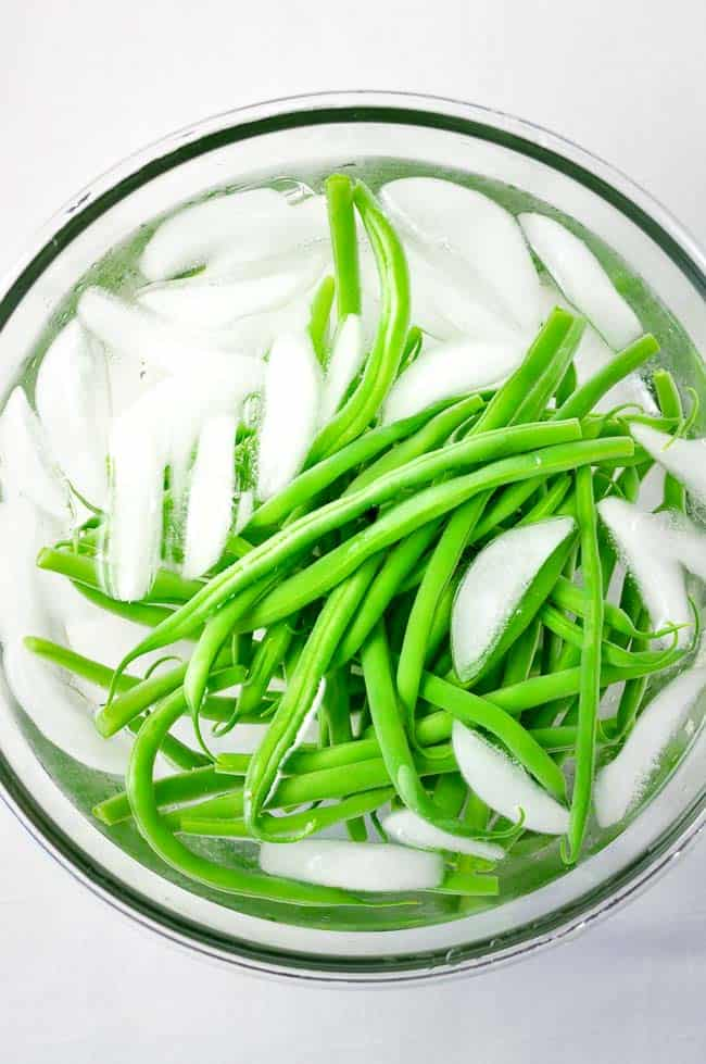 Sesame Ginger Green Beans. How to Blanch Beans