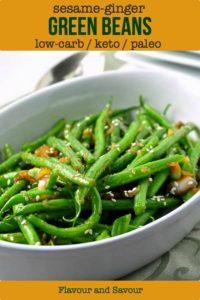 Sesame Ginger Green Beans Keto title