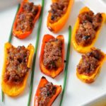 Spicy Stuffed Mini Peppers title