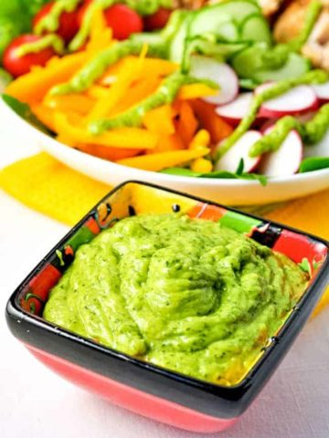 Dairy-Free Avocado Crema. A simple dip, dressing, or a topping for tacos. Super useful recipe.