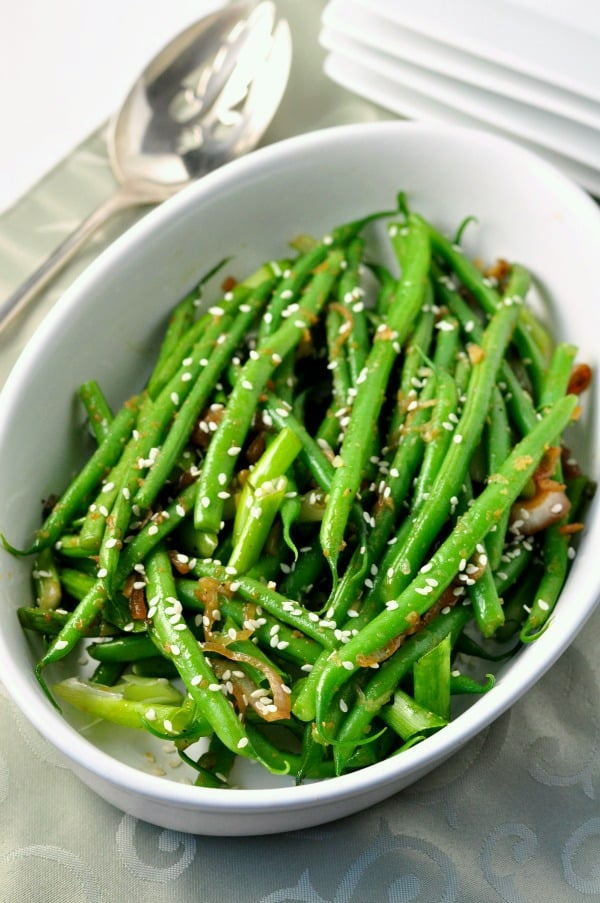Sesame Ginger Green Beans - Flavour and Savour