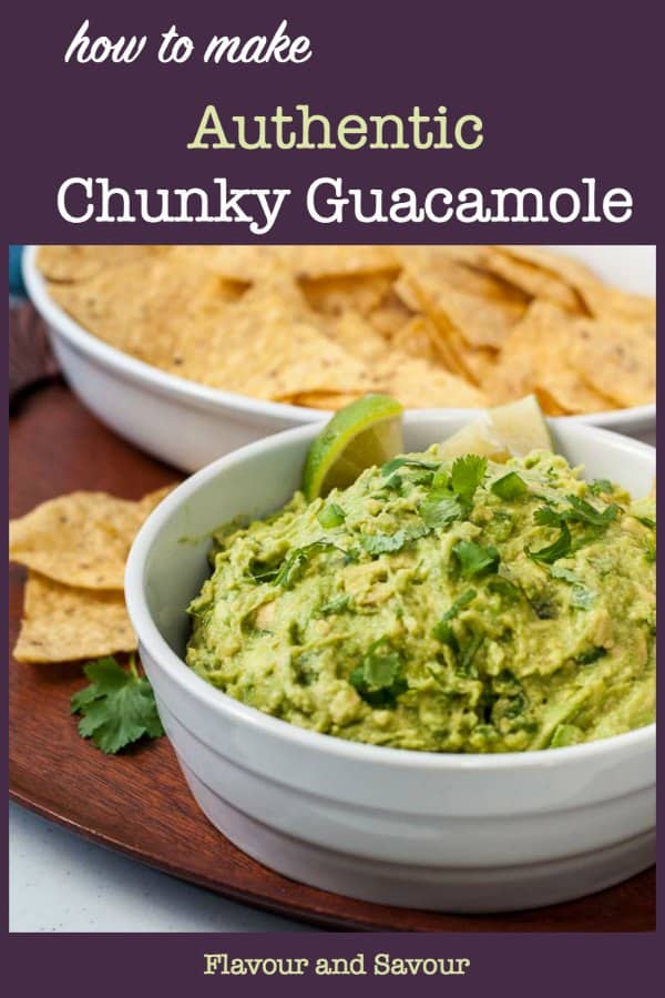 How to Make Authentic Mexican Chunky Guacamole title