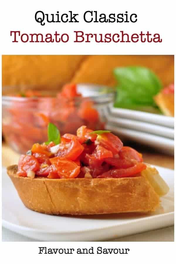 Quick Classic Tomato Bruschetta title
