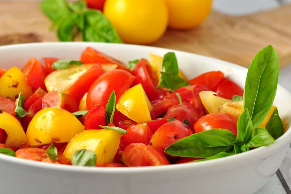 Rustic Tomato Salad with Fresh Basil |flavourandsavour.com