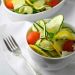 Zucchini Basil and Parmesan Salad. Fresh, healthy, and bursting with flavour. from Flavour & Savour