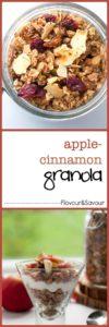 How to Make Apple Cinnamon Granola |www.flavourandsavour.com