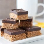 Grain-free, no-bake Chocolate Peanut Butter Squares from Flavour and Savour