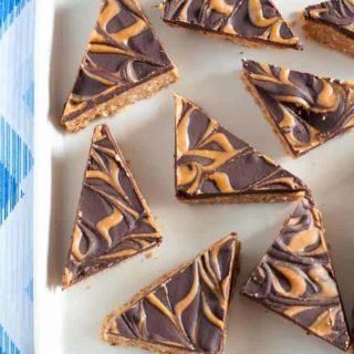 Grain-Free Peanut Butter Swirl Chocolate Bars.