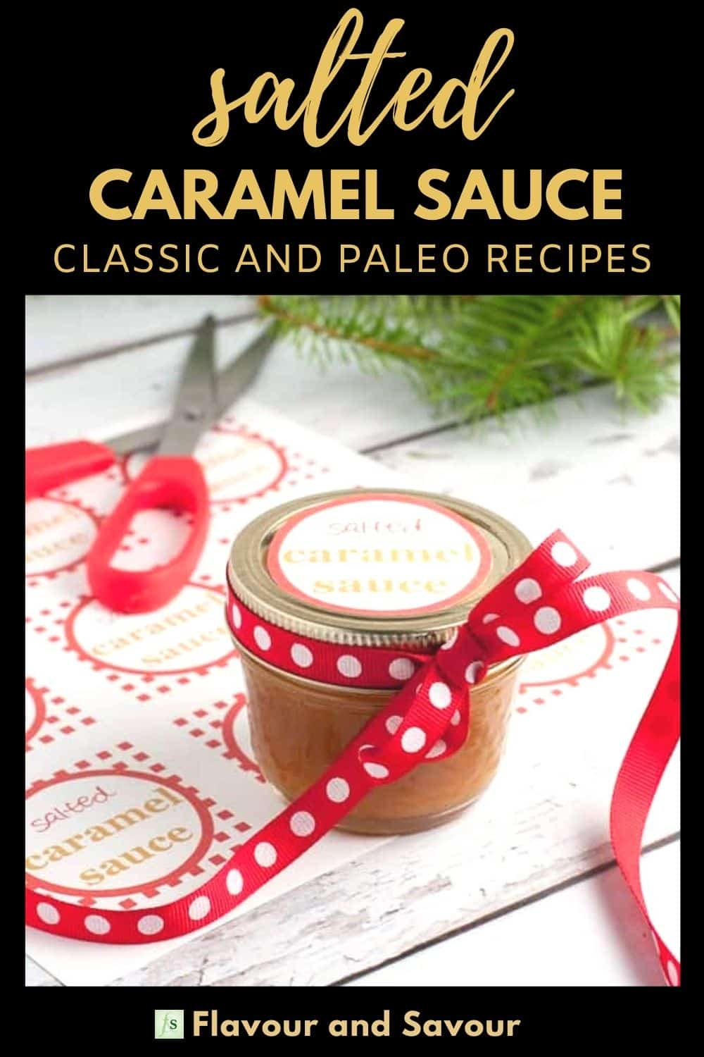 Image and text overlay for Salted Caramel Sauce