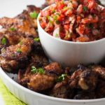Taco Chicken with Guacamole and Fresh Salsa for dipping from Flavour and Savour