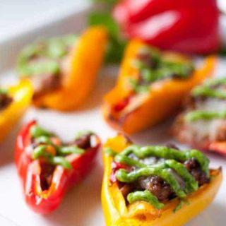 Taco Stuffed Mini Peppers