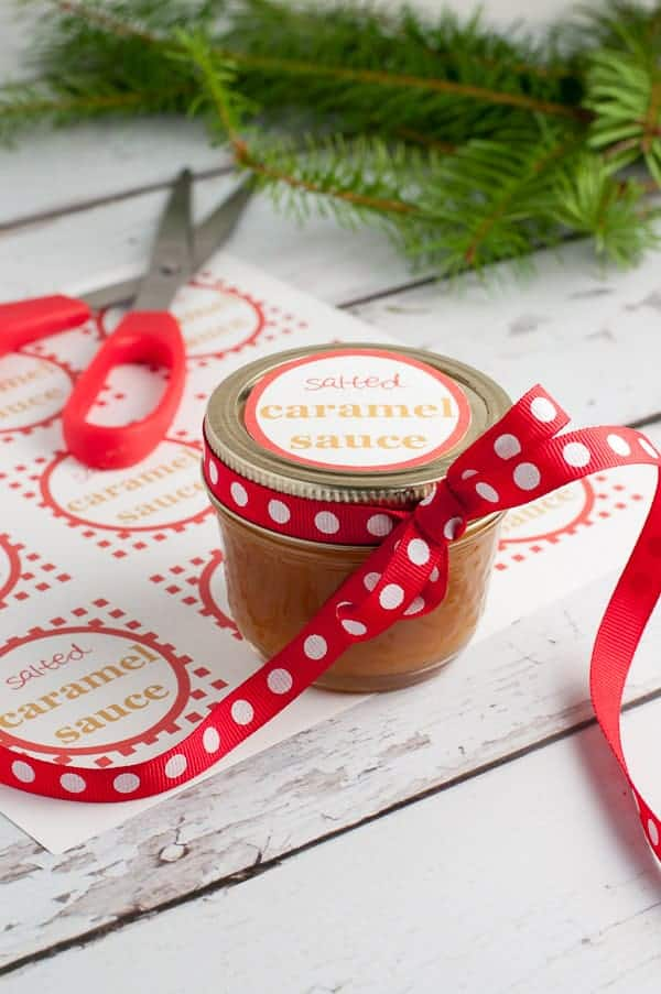 Salted Caramel Sauce Two Ways. Recipes and easy instructions for Classic and Paleo Caramel Sauce. Also includes cute printable gift tags.