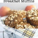 Apple Oatmeal Breakfast Muffins pin