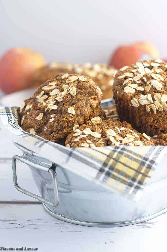 Grab and Go Apple Oatmeal Breakfast Muffins
