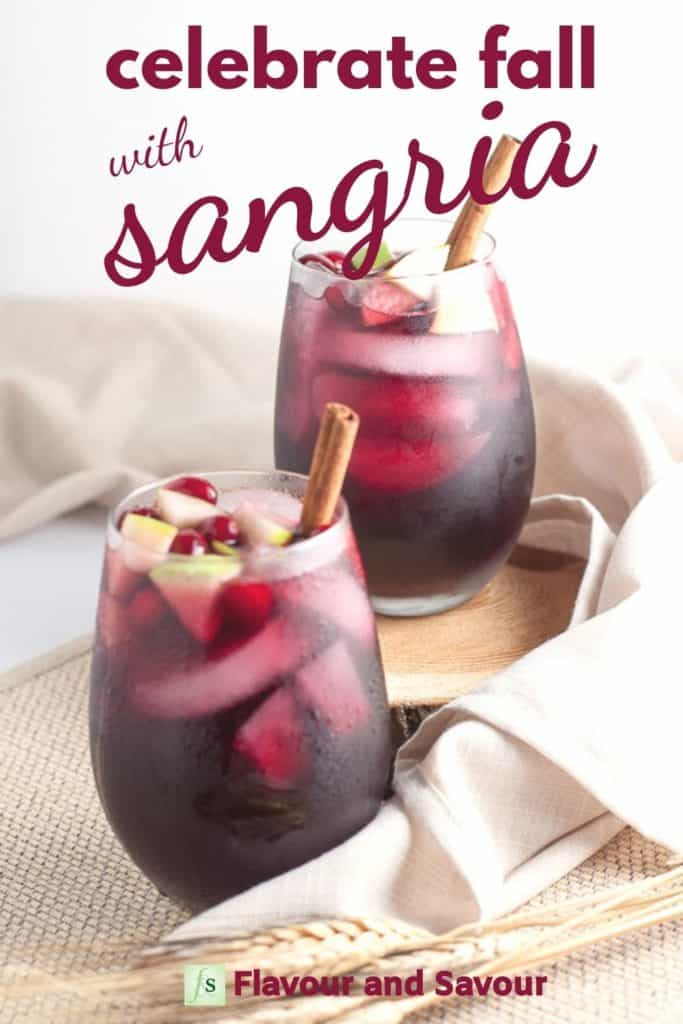 Image and text overlay Celebrate Fall with Sangria