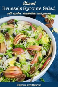 Pin image for Shredded Brussels Sprout salad