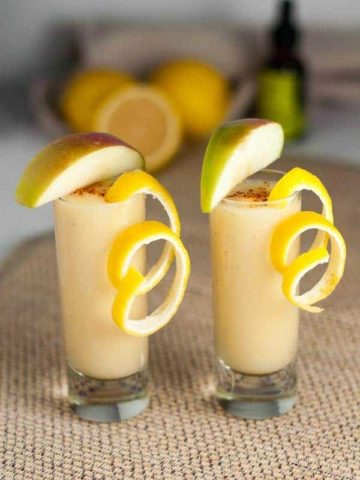 Oil of Oregano Wellness Shooter. Take at the first sign of a cold to boost your immune system. Lemon, ginger, cayenne with an apple chaser! Let's stay healthy. |www.flavoaurandsavour.com