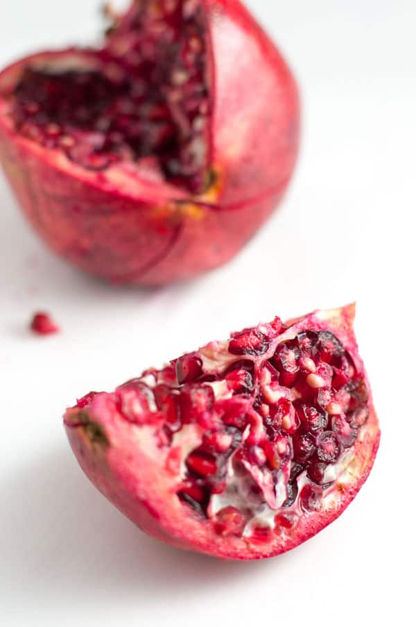 Pomegranate: a superfood in this Fit and Healthy Kale Salad with Superfoods |www.flavourandsavour.com