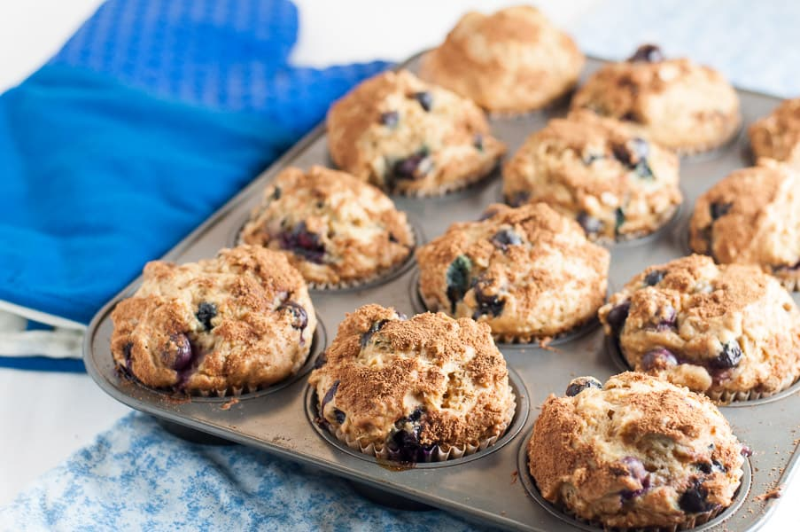 Low Fat Banana Blueberry Muffins 96