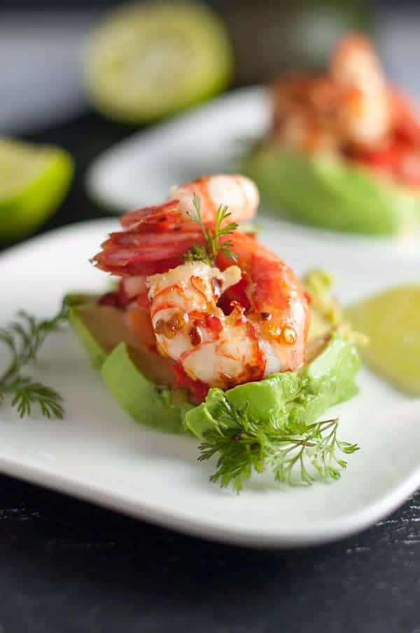 Grilled Chili Lime Shrimp with Fresh Salsa.