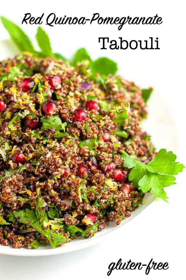 Red Quinoa Pomegranate Tabouli title
