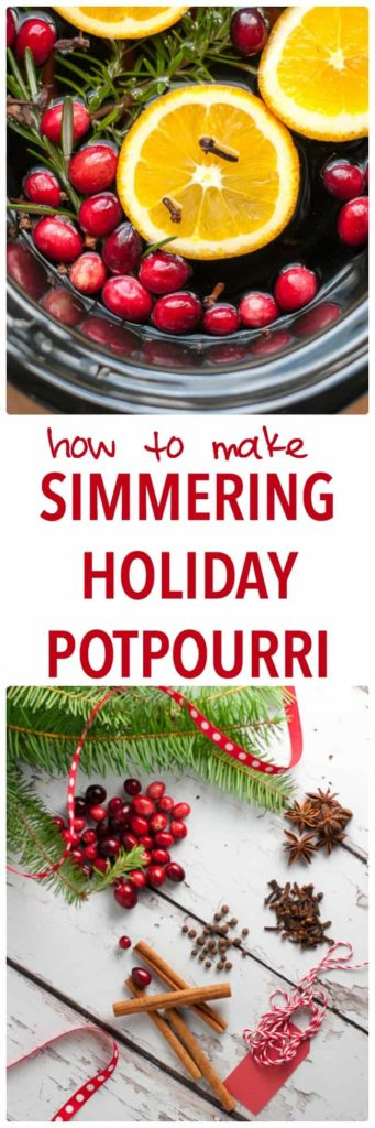 How to Make Simmering Holiday Potpourri on your stove top or in your slow cooker. Makes your home smell like Christmas! Includes free printable gift tags, too.