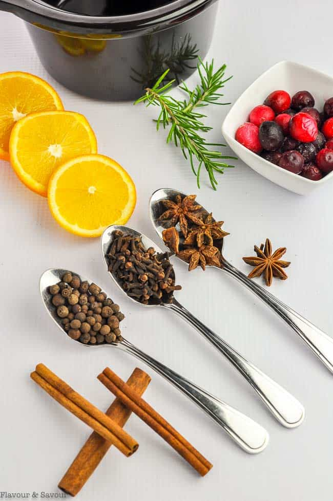 Ingredients for Simmering Holiday Potpourri