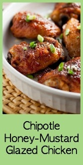 Smoky Chipotle Honey-Mustard Glazed Chicken Thighs. Juicy chicken, crispy skin with just the right amount of heat.