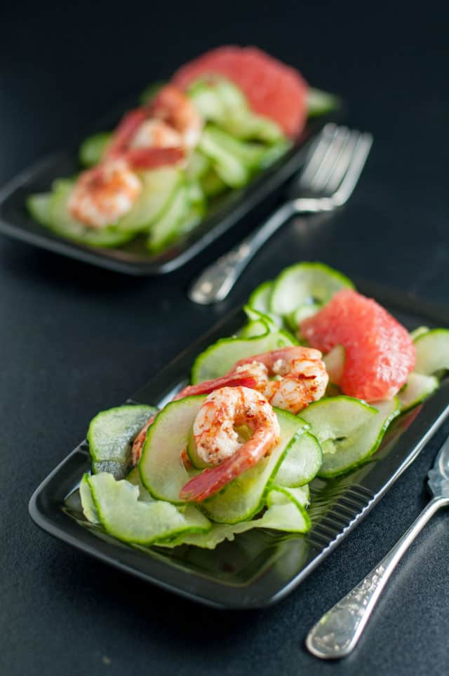 Easy 5-Minute Harissa Shrimp. Robust flavours of Morocco on Wild Pacific Shrimp. A quick topping for a salad or appetizer.