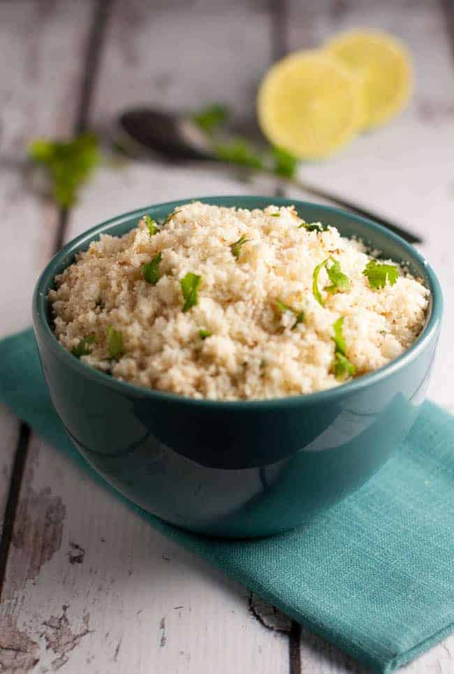 How to Make Cauliflower Rice. Easy instructions and recipes to make and freeze this healthy side dish. Great served with Honey Lime Chill Chicken Thighs