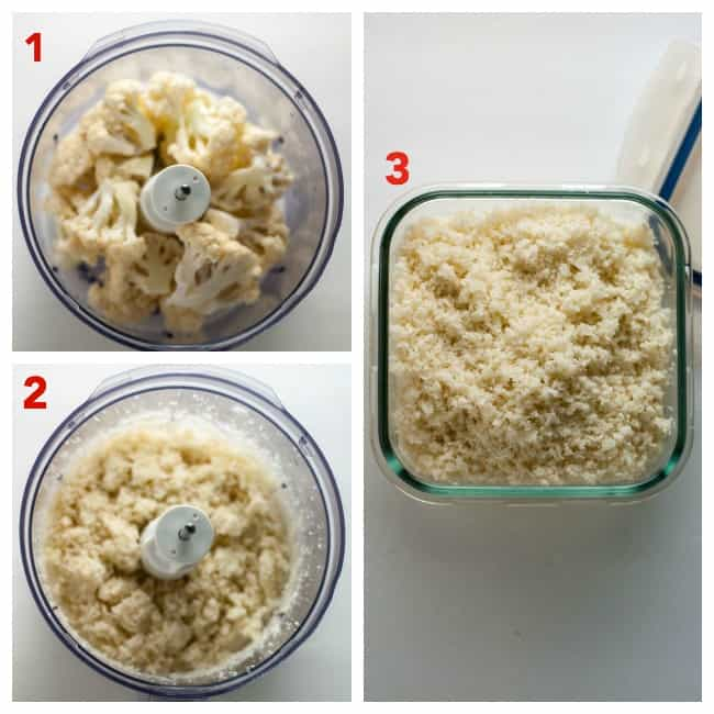 How to Make Cauliflower Rice. Easy instructions and recipes to make and freeze this healthy side dish.