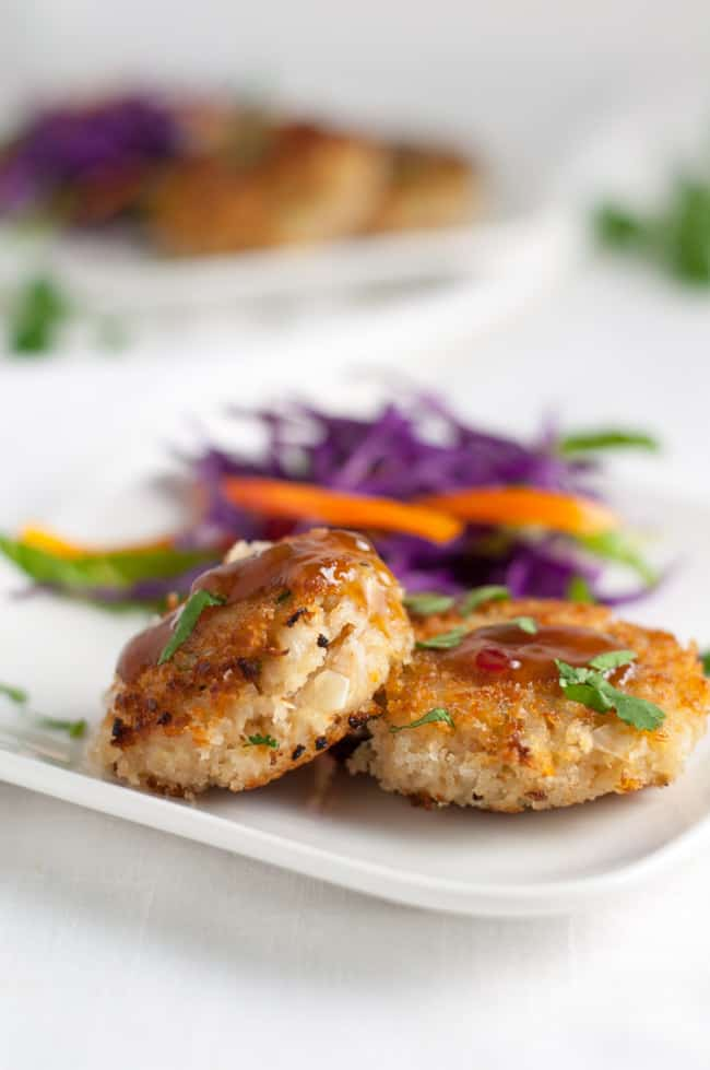Bangkok Crab Cakes with Spicy Thai Dip.