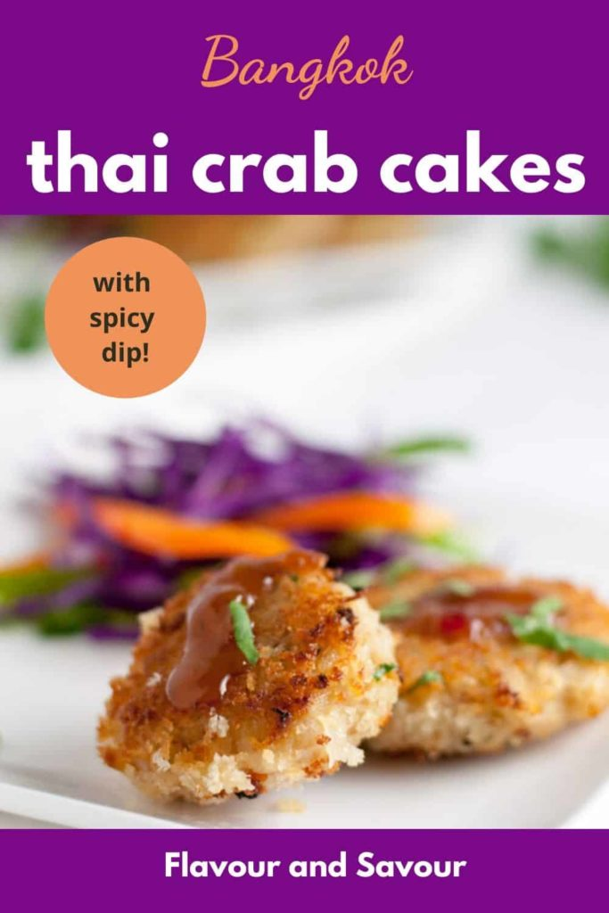 Pinterest pin for Thai Crab Cakes