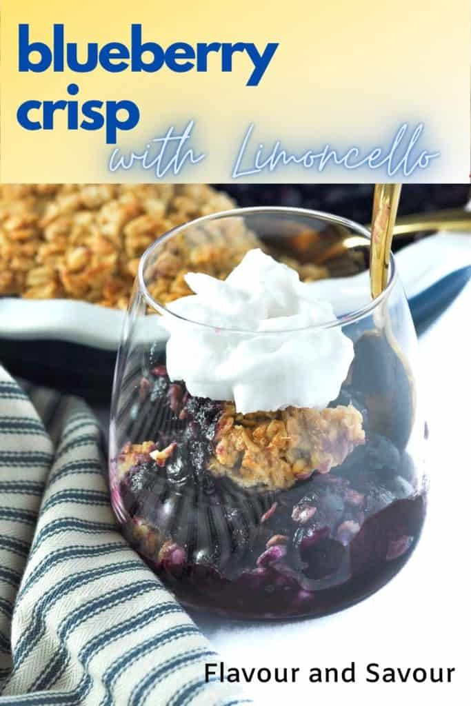 Blueberry Limoncello Crisp with text overlay