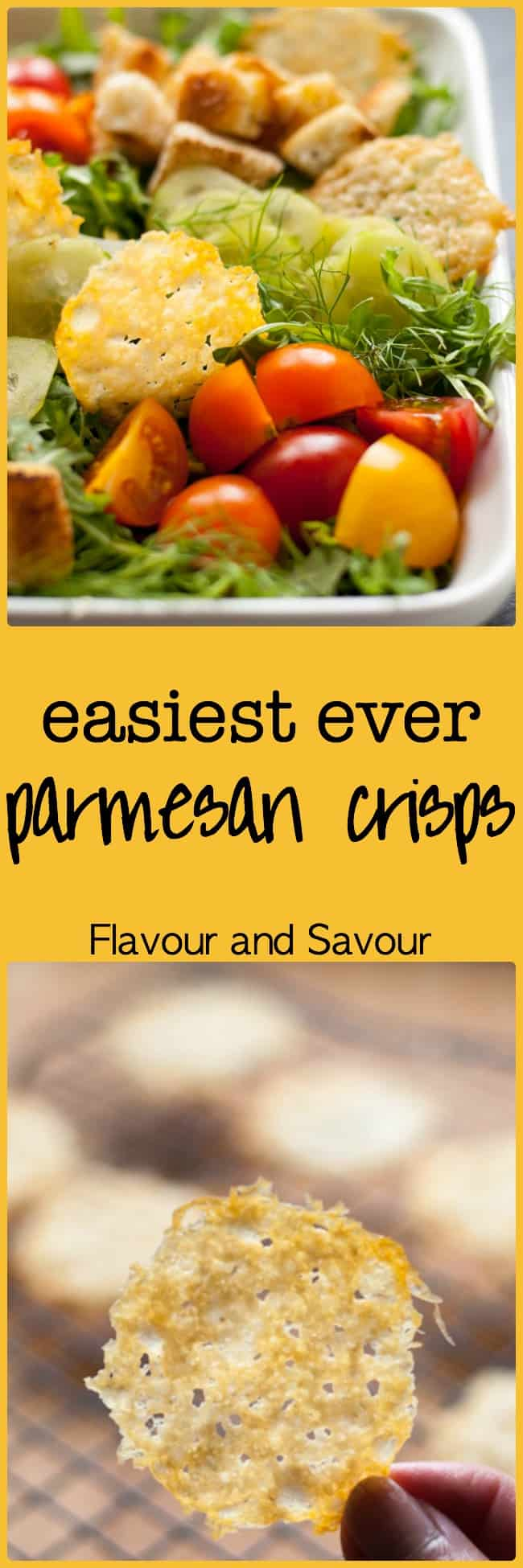 Easiest Ever Parmesan Crisps. One ingredient. Two steps. Delicious cheesy crisps that everyone loves.