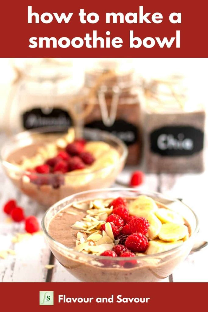 Pinterest Pin for How to Make a Smoothie Bowl