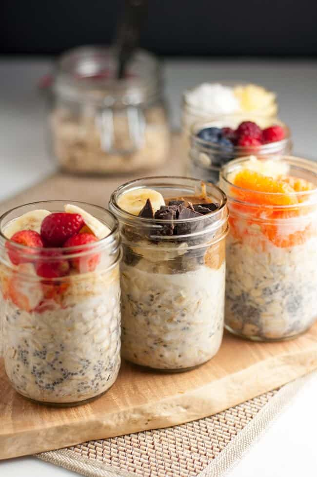 Overnight Oats. Shake up your breakfast routine with these 5 make-ahead ideas for Overnight Oats: Breakfast to Look Forward To