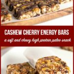 Pinterest Pin for Paleo Cashew Cherry Snack Bars