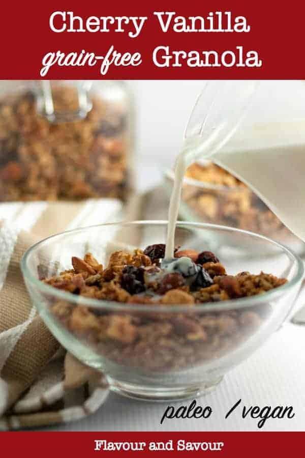 Cherry Vanilla Grain-Free Granola title