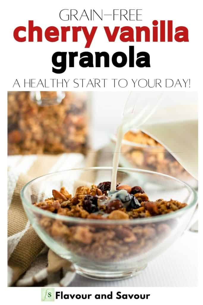 Image and text for Grain-Free Cherry Vanilla Granola