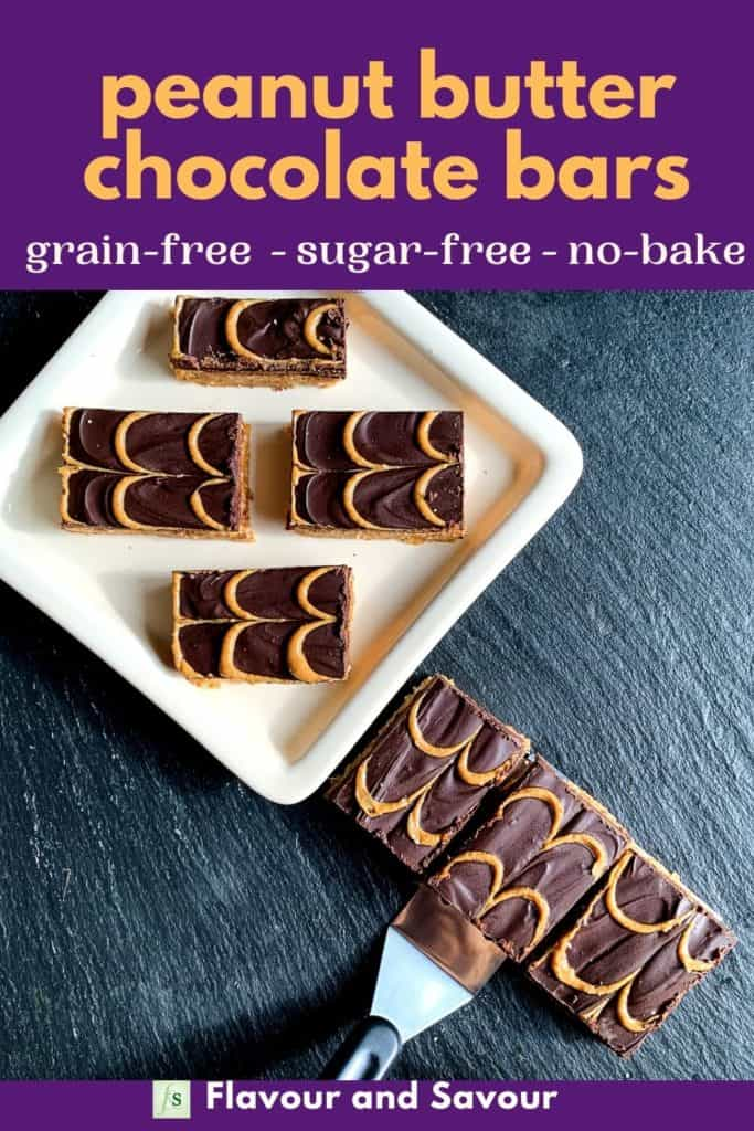 Image and text Peanut Butter Chocolate Swirl Bars