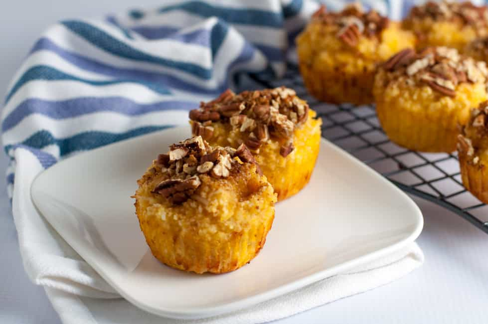 Paleo Pina Colada Muffins with Pecan Crumble.