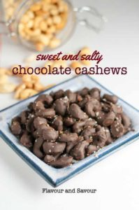 Sweet and Salty Cashews. Easy to make homemade healthier treat!