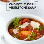 Slow Cooker One Pot Tuscan Minestrone Soup