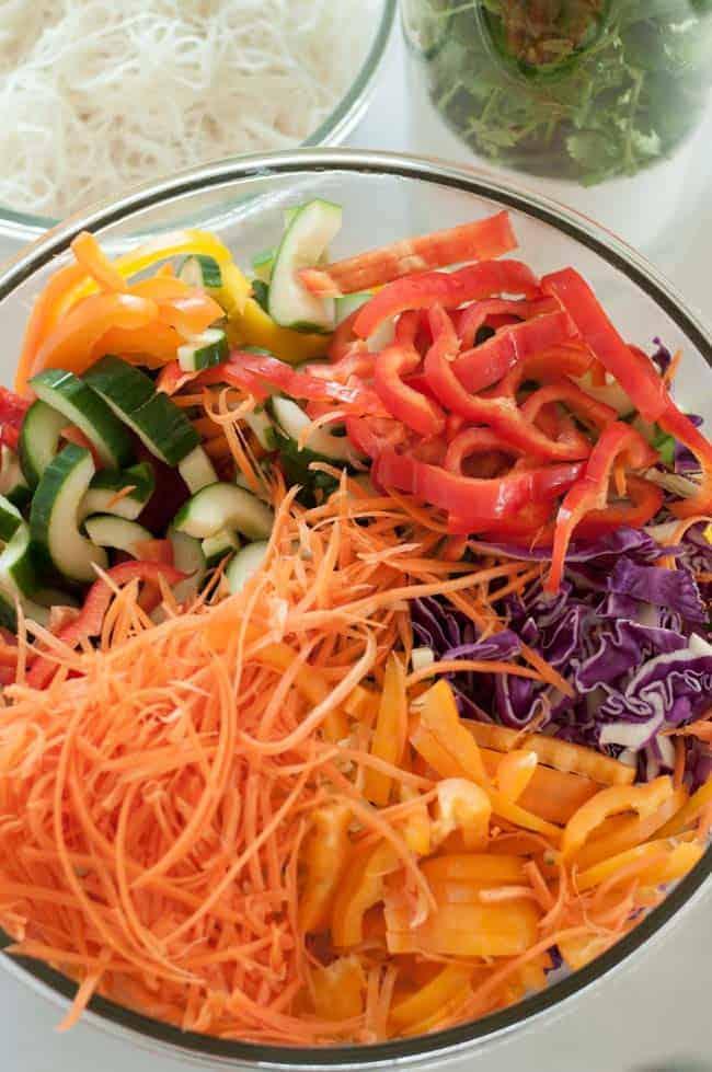 Super Crunchy Noodle Salad with Thai Peanut Dressing