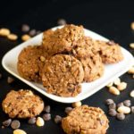 My Favorite Gluten-Free Peanut Butter Chocolate Cookies. This recipe makes a soft but sturdy cookie with coconut palm sugar, almond flour and added peanuts for crunch. Totally satisfying!
