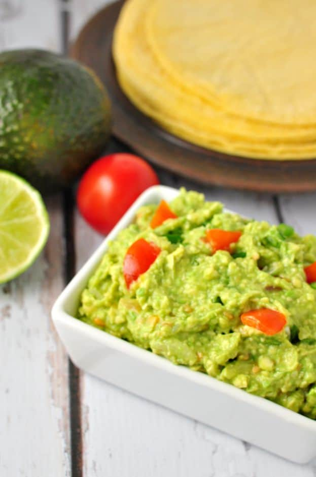 Quick Chunky Guacamole. So easy to make at home.