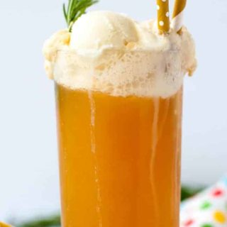 The Ultimate Healthy Kombucha Float. Get a healthy dose of probiotics and enjoy it with your favourite ice cream or gelato.  www.flavourandsavour.com
